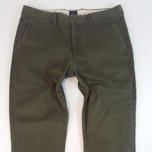 J. Crew Pants - J. Crew Stretch Pants 770 Olive Green 34x34